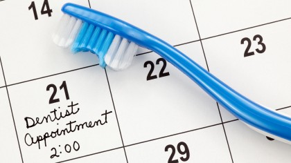 dentist appointment on the calendar